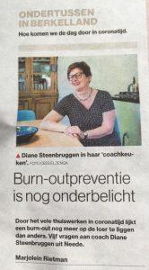 Diane Steenbruggen in Tubantia
