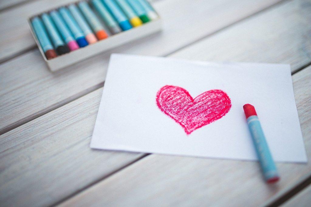 harttekening en tekenspullen