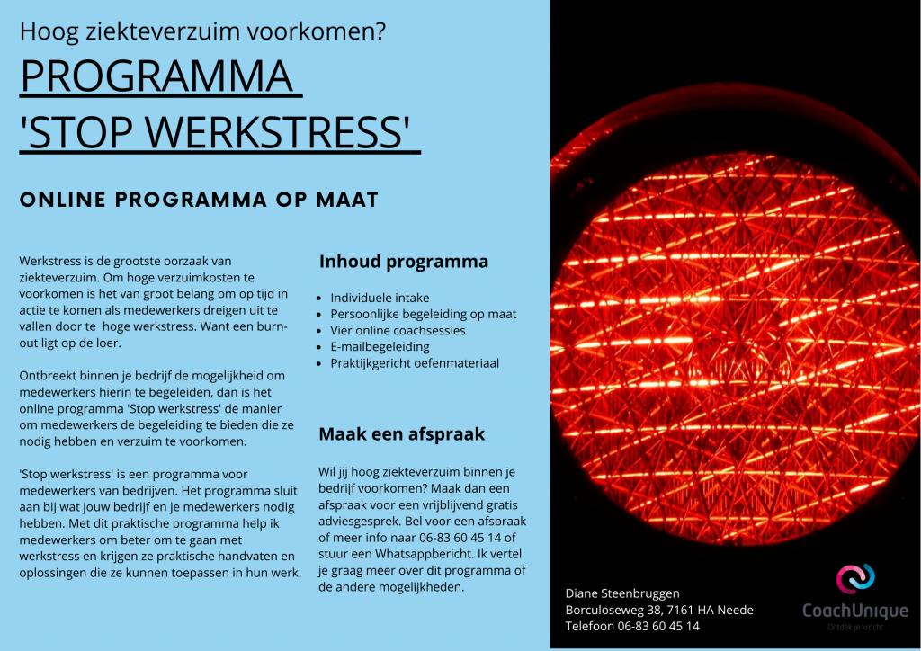stop werkstress programma